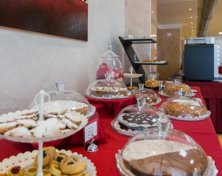 Rich and genuine buffet for breakfast at the 4-star best Western Hotel Rocca Cassino