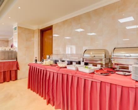 The buffet breakfast at Best Western Rocca Hotel. 4 star hotel in Cassino, is full of sweet and savoury products typical of the locality;