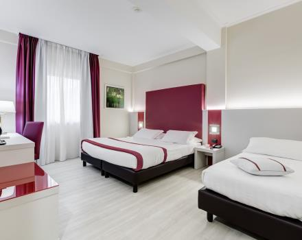 Choose the comfort of the triple room at the Best Western Hotel Rocca Cassino