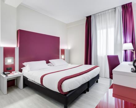 Choose the services of the comfort room for your stay in Cassino-Hotel Rocca