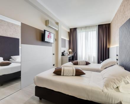The comfortable standard rooms of the Best Western Hotel Rocca Cassino