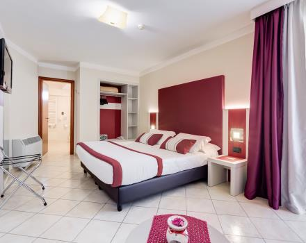 Large Junior suite with shower in the Best Western Hotel Rocca Cassino